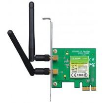 WiFi адаптер PCIe TP-Link TL-WN881ND 300M Wi-Fi PCI (PCI Express(x1), 2,400-2,4835 GHz, 2x 2dBi detachable omni-directional (RP-SMA) antenna)