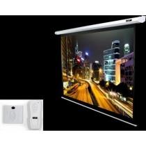 """Екран настіний Elite Screens 152.4x203.2 см, 100"""" (4:3), білий, з пультом, тип поверхні MaxWhite™ 1.1 Gain Matte, кут обзору до 150 градусів, пульт Д/У в комплекті, моторизований"""