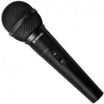 Мікрофон Defender MIC-130 (провідний, динамічний, мембрана 25 мм, 50 Гц - 14 кГц, 500 Ом, 73 дБ, перемикач On/Off на корпусі, відєднуваний кабель з розємом XLR, розєм 3,5 мм, адаптер 6,3 мм jack/3,5 мм jack в комплекті, довжина шнура - 5 м, чорний)