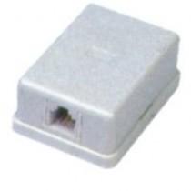 Розетка телефонна 1xRJ12 , біла