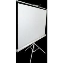 """Екран на тринозі Elite Screens 243.8x243.8 см, 136"""" (1:1), білий корпус, тип поверхні MaxWhite 1.1 Gain, кут огляду до 150 градусів, без пульта Д/У"""