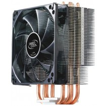Вентилятор(CPU) універсальний Deepcool GAMMAXX 400 (Socket: LGA1366/LGA1155/LGA1156/LGA775, FM1/AM3+/AM3/AM2+/AM2/940/939/754, вентилятор: 120x120x25 мм, 900±150~1500±10%RPM, 60.29CFM, 21.4~32.1dB(A), Hydro Bearing, 4 мідіні теплові трубки (з порошковими