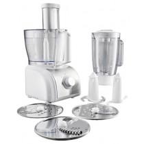 Кухонний комбайн Gorenje SB800W White/Silver (800 Вт, обєм чаші - 1,5 л, 2 швидкості, гумові ніжки, імпульсна робота, універсальний ніж, терка, диск для нарізання соломкою, відсік для шнура, 25,5x22x41 см, білий + сріблястий)