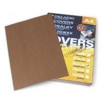 """Обкладинка КАНТРІ А4, картон """"під шкіру"""", коричневий, 230г/м2, 100шт./уп."""