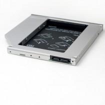"""Внутрішня кишеня 2.5"""" Grand-X 9.5mm Slim для ноутбука ODD (HDC-24), металевий HDD/SSD SATA"""