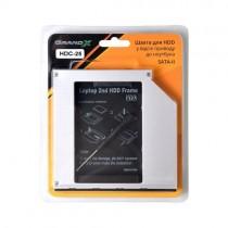"""Внутрішня кишеня 2.5"""" Grand-X  для ноутбука ODD, HDD/SSD SATA/mSATA"""
