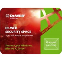 ПЗ Dr. Web Security Space v11.0, на 1рік на 1ПК (електронний ключ)