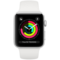 Смарт-годинник Apple Watch A1858 Series 3 GPS 38mm Silver Aluminium Case with White Sport Band
