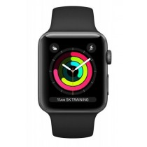 Смарт-годинник Apple Watch A1858 Series 3 GPS 38mm Space Grey Aluminium Case with Black Sport Band