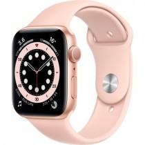 Смарт-годинник Apple Watch A2292 Series 6 GPS, 44mm Gold Aluminium Case with Pink Sand Sport Band - Regular