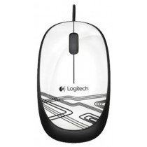 Мишка Logitech M105, 1000dpi, optical, white, USB