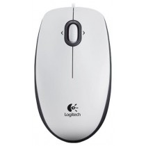 Мишка Logitech M100, 1000dpi, optical, white, USB