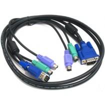 KVM кабель D-Link DKVM-CB5 Kit for DKVM Products (KVM кабель KVM для підключення клавіатури, миши та монітора, довжина 4,5 м)