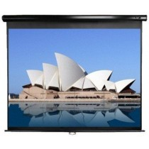 """Екран настінний Elite Screens 234.7x132.1 см, 106"""" (16:9), чорна рамка, тип поверхні MaxWhite™, кут обзору 160 градусів, ручний"""