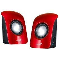 Колонки Genius SP-U115 2.0 USB (2x1 Вт, 200 – 18 000 Гц, динамік: 50x50 мм, лакована передня панель, Red)