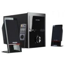 """Колонки Microlab M-700U 2.1 (2x14 Вт, динаміки: 2.5"""", 150-20000 Гц, пластик, SUB 18 Вт, динамік: 5"""", 35-150 Гц, дерево, USB, картрідер SD, FM-тюнер, ПДУ, Black)"""