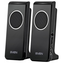Колонки Sven 314 2.0 Black (USB/Mini jack 3.5 мм, 2x2 Вт, 100 – 20 000 Гц, пластик)