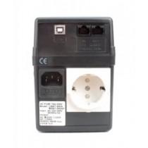 ББЖ PowerCom BNT-800A Schuko (800 ВА, 480 Вт, Line-interactive, апроксимована синусоїда, час переходу на батарею: 2-5 мсек., час автономної роботи: навантаження 50% - 10 хв., навантаження 100% - 5 хв., 97x32x135 мм, 7.5 кг, чорний)