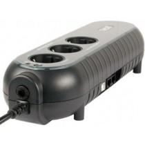 ББЖ PowerCom WOW-500U (500 ВА, 250 Вт, ступінчата апроксимація синусоїди, час переходу на батарею: 2-4 мс, час резервного живлення, при навантаженні 100 Вт: 7 хв., захист від перевантажень і коротких замикань, 110x330x82 мм, 2,58 кг, чорний)