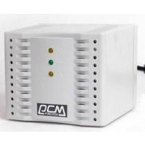 Стабілізатор PowerCom TCA-2000 white (1200 ВА, 600 Вт, стабілізація вихідної напруги +/- 5%, ККД 95%, 4 F-type EURO вихідні розетки, захист від коротких замикань, перевантажень по виходу, скачків напруги, 123x136x102 мм, 1.6 кг, білий)