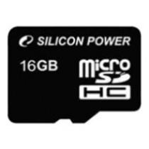 Картка пам'яті microSD 16Gb Silicon Power Class10 (без адаптера)