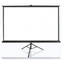 """Екран на тринозі Elite Screens 243.8x243.8 см, 136"""" (1:1), чорний корпус, тип поверхні MaxWhite 1.1 Gain, кут огляду до 150 градусів, без пульта Д/У"""