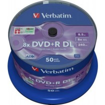 Диск Verbatim DVD+R 8,5Gb DL 8x Cake 50 pcs 43758