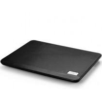 "Охолоджуюча підставка для ноутбука Deepcool N17 Black 14.0"", Active cooling, Fan 1x140 mm, Hydro Bearing, 1000±10%RPM, 47.35CFM, 21dB(A), powered - USB (5VDC), USB-hub, metal mesh, 330x250x25 mm, 465g, Black"