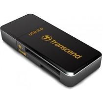 Кардрідер Transcend TS-RDF5K Зовн. MULTI CARD READER USB2.0/3.0 Black (SDHC (UHS-I)/SDXC (UHS-I)/microSDHC (UHS-I)/microSDXC (UHS-I))