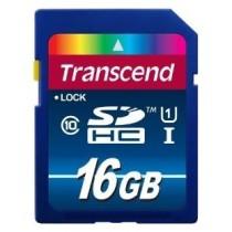 Картка пам'яті SD 16Gb Transcend Premium (Class 10) Ultra High Speed 1