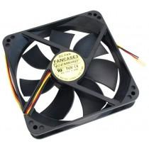 Вентилятор 120мм Gembird FANCASE3/BALL 120х120х25мм BB 2500 об/мин 25дБ 3pin черный з шарикопідшипником
