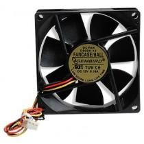 Вентилятор 80мм Gembird FANCASE/BALL 80х80х25мм BB 2500 об/мин 25дБ 3pin черный з шарикопідшипником