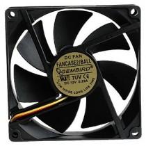 Вентилятор 90мм Gembird FANCASE2/BALL 90х90х25мм BB 2500 об/мин 25дБ 3pin черный з шарикопідшипником