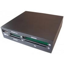 Кардрідер внутрішній Gembird FDI2-ALLIN1-B, підтримує CF/MD/SM/MS/SD/MMC/XD, в розєм для FDD, чорний колір