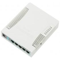 Маршрутизатор WiFi Mikrotik RB951G-2HnD Atheros AR9344 (600 MHz), RAM 128MB, WiFi 802.11b/g/n, 5xGigabit LAN, 1xUSB, RouterOS L4
