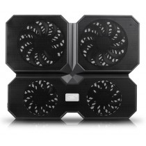 """Охолоджуюча підставка для ноутбука Deepcool Multicore x 6 до 15.6"""", алюм.панель-сітка, 2х14см + 2х10см"""