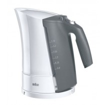 Електрочайник Braun Mquick 3 WK300 White (2200 Вт, 1,6 л, закритий нагрівальний елемент із нерж. сталі, система швидкого нагріву (дозволяє закипятити воду за 35-45 сек.), фільтр від накипу, автовимкнення при закипанні/ при відсутності води/ при відкритій