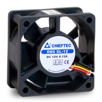 Вентилятор 120мм Chieftec Thermal Killer AF-1225PWM,120мм,1650 об/мин,4pin PWM/Molex,31dBa
