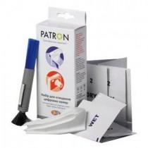 Чистячий набір Patron F5-011 набір для очистки цифр. фото (двохстор.щітка+спецсалфетки; для корпусів, футлярів, лінз, екранів)
