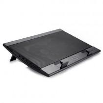 """Охолоджуюча підставка для ноутбука Deepcool WIND PAL FS (до 15,6"""", метал, 2х14см вентилятори з контролем швидкості)"""